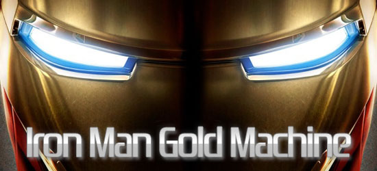 iron man gold machine