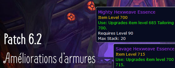 patch 6.2 -armures