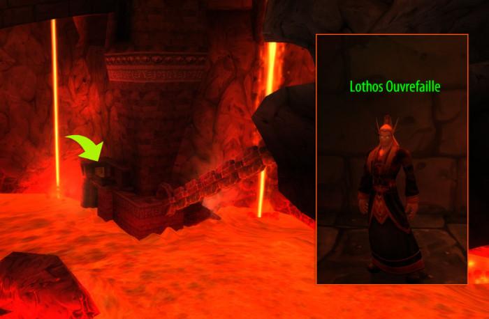 Parlez à Lothos Ouvrefaille pour rentrer dans le raid